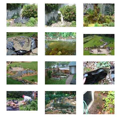 Rock On A Roll Hiding Pond Liner With Less Stone